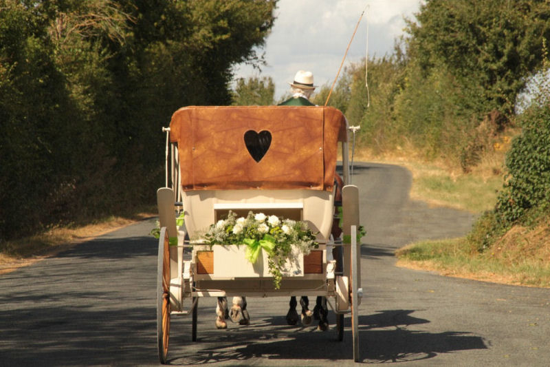 Wedding France Horse and Carriage